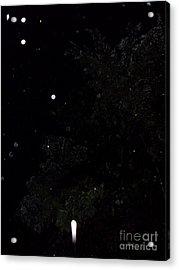 Rocket In The Rain Acrylic Print by Doug Kean