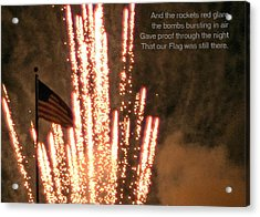 Rockets Red Glare Acrylic Print