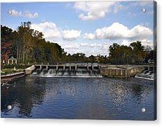 Rockford Dam Acrylic Print