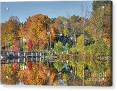Rockford Michigan In Fall Acrylic Print by Robert Pearson