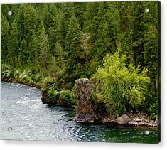 Rockin The Spokane River Acrylic Print