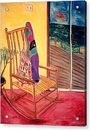 Rocking Chair Acrylic Print by Eliezer Sobel