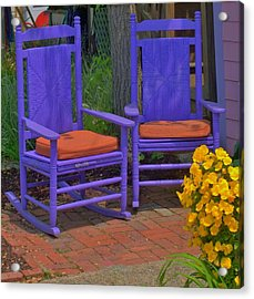 Acrylic Print featuring the photograph Rocking Chairs Of Gloucester by Caroline Stella