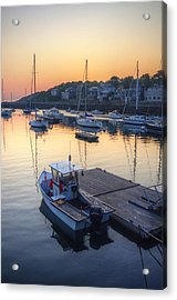 Rockport Dawn Acrylic Print by Matthew Green