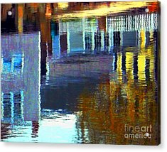 Acrylic Print featuring the digital art Rockport Reflections by Dale Ford