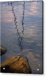 Rocks And Reflection Acrylic Print