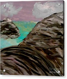 Rocks And Water Acrylic Print by Marie Bulger