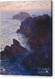 Rocks At Bell Ile Port Domois Acrylic Print by Claude Monet
