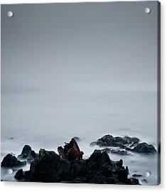 Rocks In Water At Sea Acrylic Print by Ahfox21