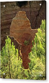 Rocks. Ochre.  Roussillon. Luberon. France. Europe Acrylic Print
