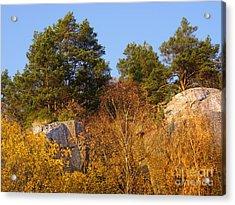 Rocky Autumn Sun Acrylic Print by Lutz Baar