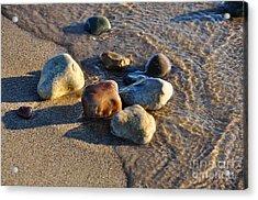 Rocky Beach  Acrylic Print by Ginger Harris