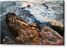 Acrylic Print featuring the photograph Rocky Coast In Warm Sun by Michael Rock