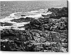 Rocky Coastline II - Black And White Acrylic Print by Hideaki Sakurai