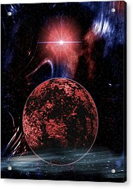 Rocky Extrasolar Planet Acrylic Print by Victor Habbick Visions