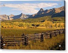 Rocky Mountain Ranch Acrylic Print