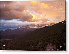 Rocky Mountain Sunset Acrylic Print by Charles Warren