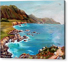 Rocky Point At Big Sur Acrylic Print