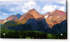 Rocky Red Mountains Acrylic Print