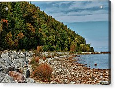 Acrylic Print featuring the photograph Rocky Shores by Rachel Cohen