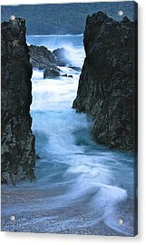 Acrylic Print featuring the photograph Rocky Waves by Scott Holmes