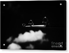 Rod And Line Fishing Against Sky Acrylic Print by Joe Fox