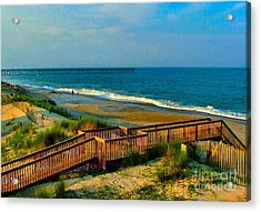 Rodanthe On The Outer Banks Acrylic Print by Julie Dant