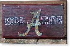 Roll Tide - Medium Acrylic Print by Racquel Morgan