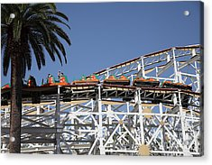 Roller Coaster - 5d17608 Acrylic Print by Wingsdomain Art and Photography