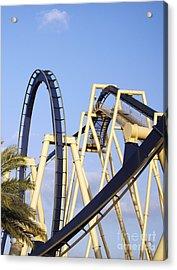 Roller Coaster Track Acrylic Print by Skip Nall