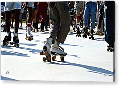 Roller Skates Acrylic Print by Emanuel Tanjala
