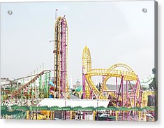 Rollercoaster Acrylic Print by Thenakedsnail