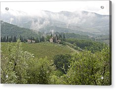 Rolling Green Hills, Wine And Olive Acrylic Print by Keenpress