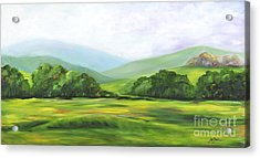 Rolling Hills In Springtime Acrylic Print