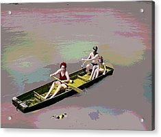 Rolling On The River Acrylic Print by Charles Shoup