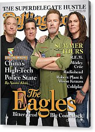 Rolling Stone Cover - Volume #1053 - 5/29/2008 - The Eagles Acrylic Print
