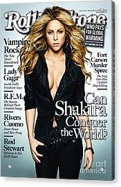 Rolling Stone Cover - Volume #1091 - 11/12/2009 - Shakira Acrylic Print