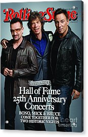Rolling Stone Cover - Volume #1092 - 11/26/2009 - Bono, Mick Jagger, And Bruce Springsteen Acrylic Print