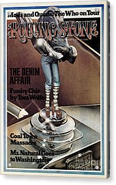 Rolling Stone Cover - Volume #151 - 1/3/1974 - Funky Chic Acrylic Print