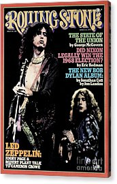 Rolling Stone Cover - Volume #182 - 3/13/1975 - Jimmy Page And Robert Plant Acrylic Print