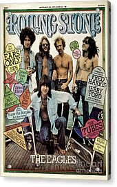 Rolling Stone Cover - Volume #196 - 9/25/1975 - The Eagles Acrylic Print