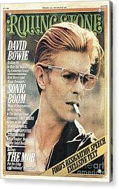 Rolling Stone Cover - Volume #206 - 2/12/1976 - David Bowie Acrylic Print by Steve Schapiro