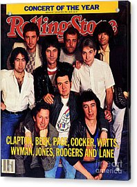 Rolling Stone Cover - Volume #413 - 1/19/1984 - Arms Concert Acrylic Print