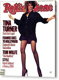 Rolling Stone Cover - Volume #432 - 10/11/1984 - Tina Turner Acrylic Print by Steve Meisel
