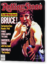 Rolling Stone Cover - Volume #442 - 2/28/1985 - Bruce Springsteen Acrylic Print
