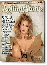 Rolling Stone Cover - Volume #484 - 10/9/1986 - Cybill Shepherd Acrylic Print