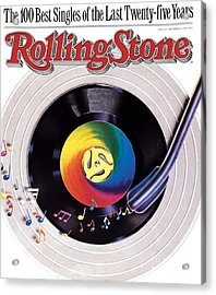 Rolling Stone Cover - Volume #534 - 9/8/1988 - 100 Greatest Singles Acrylic Print