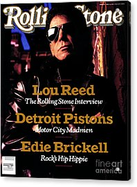 Rolling Stone Cover - Volume #551 - 5/4/1989 - Lou Reed Acrylic Print