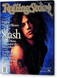 Rolling Stone Cover - Volume #596 - 1/24/1991 - Slash Acrylic Print