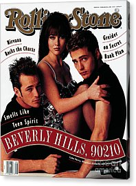 Rolling Stone Cover - Volume #624 - 2/20/1992 - Cast Of Beverly Hills 90120 Acrylic Print
